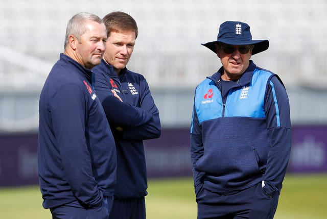Paul Farbrace, left, has played a major role in England's one-day revival alongside Eoin Morgan and Trevor Bayliss