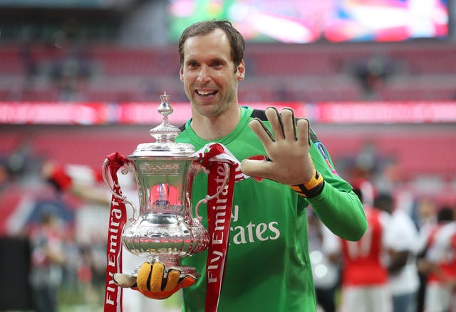 Cech collected a fifth FA Cup winners medal as part of the Arsenal squad which beat Chelsea in 2017.