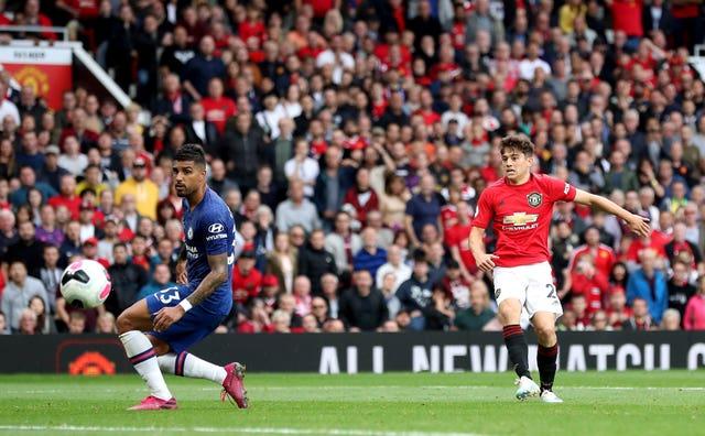 Daniel James scores Manchester United's fourth goal