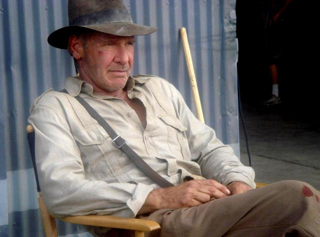 Harrison Ford in his role as Indiana Jones. Steven Spielberg