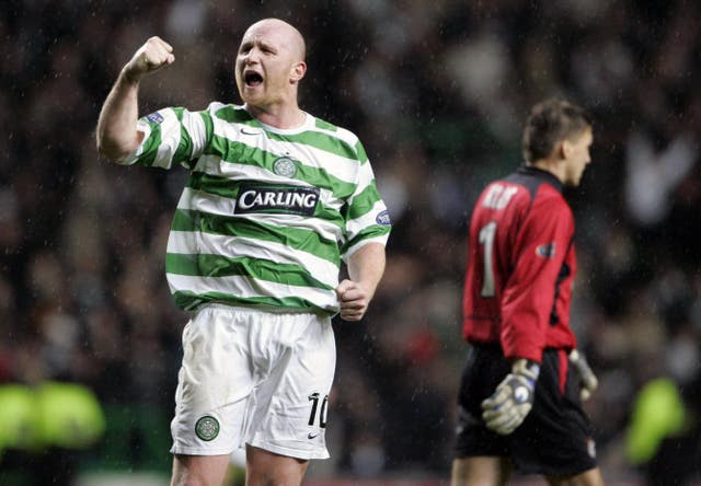 John Hartson was the last Cwltic player to join the 100 club