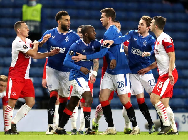 Rangers v Slavia Prague – UEFA Europa League – Round of Sixteen – Second Leg – Ibrox Stadium