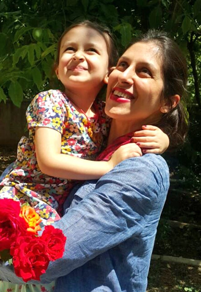 Zaghari-Ratcliffe with her daughter Gabriella