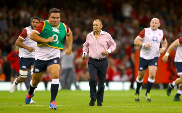 Eddie Jones joked that he should have brushed up on his rugby league