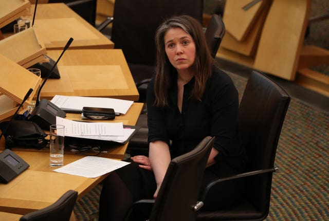 Aileen Campbell in Holyrood