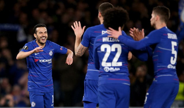 Pedro opened the scoring against Dynamo Kiev