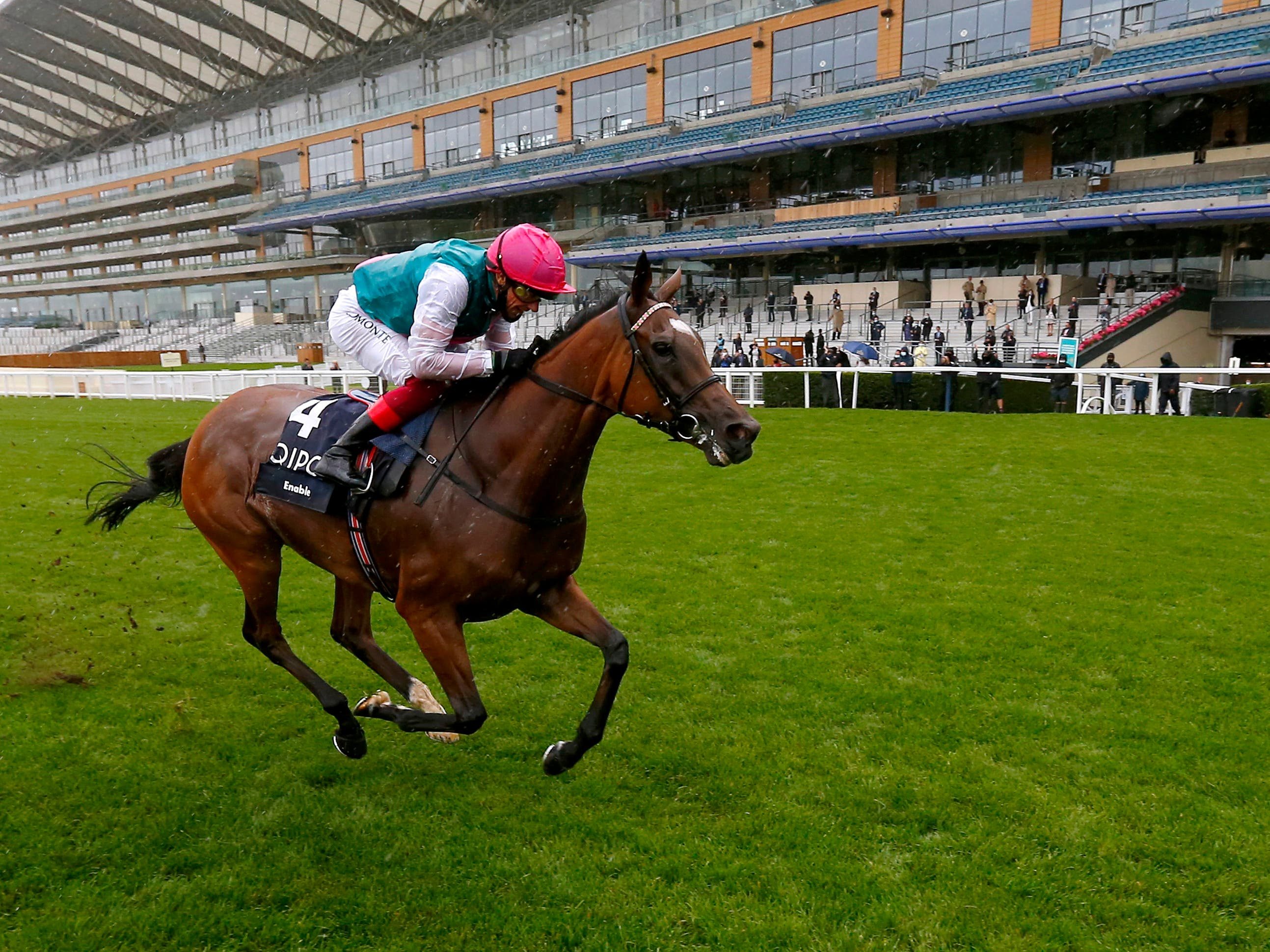 Enable and Frankie Dettori are due to bid for their third Prix de l'Arc de Triomphe together on Sunday (Dan Abraham/PA)
