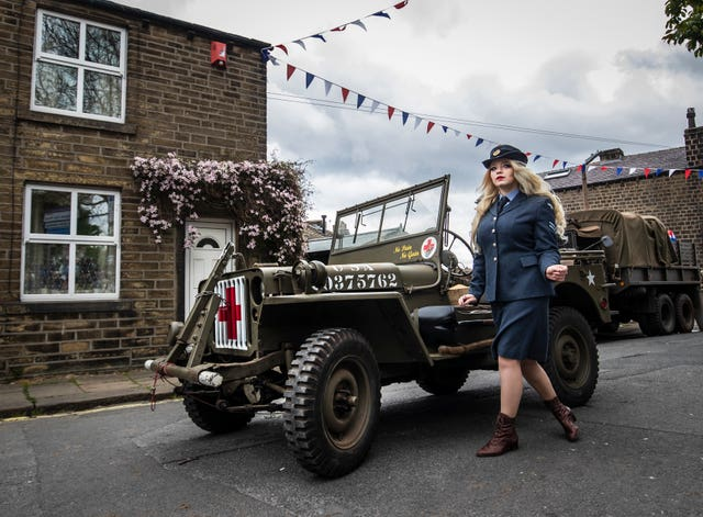 Cassandra Tainsh during the Haworth 40s weekend