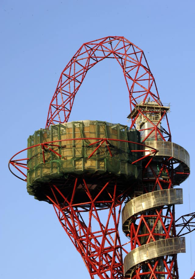 A general view of the ArcelorMittal Orbit sculpture, designed by Sir Anish Kapoor
