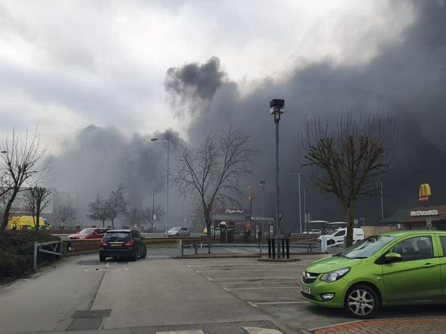 Smoke at Westgate Retail Park in Wakefield