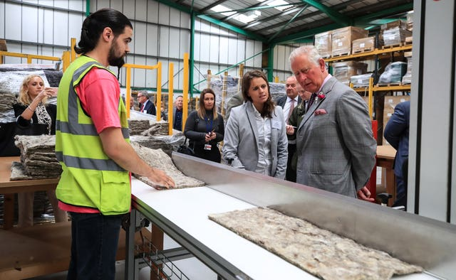 Prince of Wales visiting Woolcool