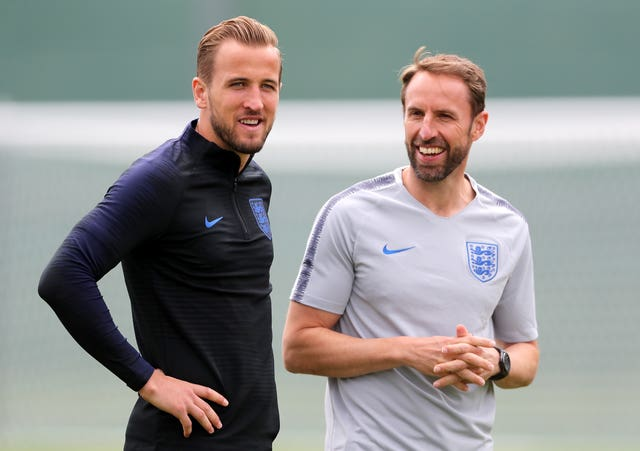 England have made great strides under captain Harry Kane and manager Gareth Southgate, right