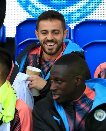 Bernardo Silva and Benjamin Mendy were both on the bench at Everton on Saturday