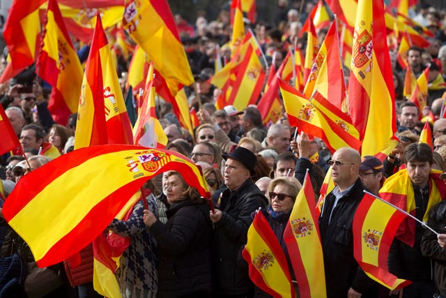 Spain VOX Party Rally