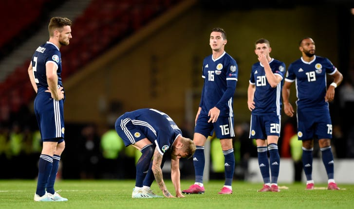 Scotland players were dejected after Friday's loss