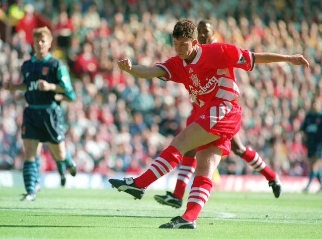 Robbie Fowler scores with his left foot
