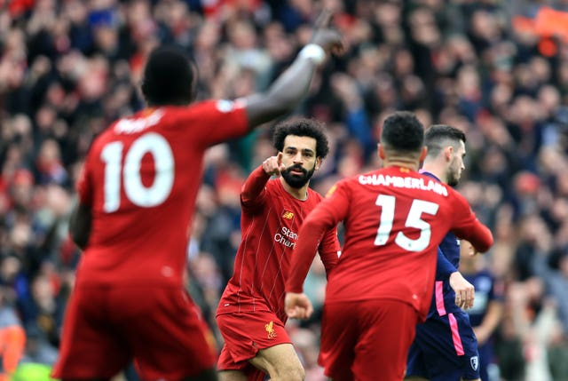 Salah equalised midway through the first half