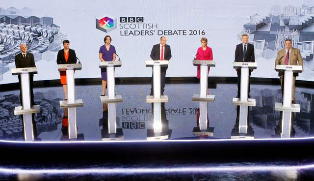 Scottish Parliament election Leaders debate
