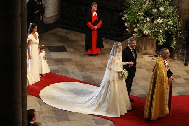 The floral scene at William and Kate's wedding in Westminster Abbey (Adrian Dennis/PA)