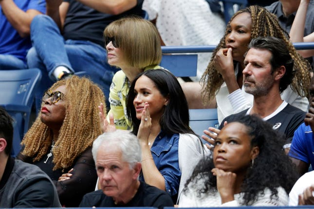 Serena Williams was watched by her close friend Meghan, Duchess of Sussex