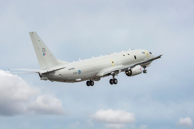 RAF Poseidon monitoring English Channel