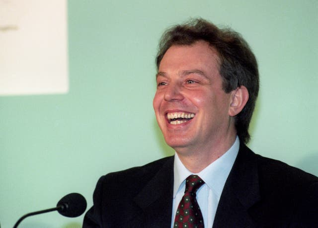 Labour leader Tony Blair during his 1995 bid to scrap Clause Four (Sean Dempsey/PA)