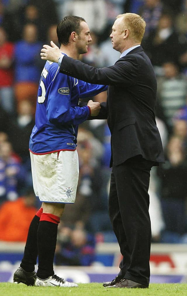Kris Boyd (left) and Alex McLeish