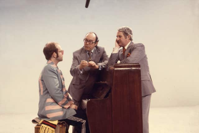 Morecambe and Wise with Elton John