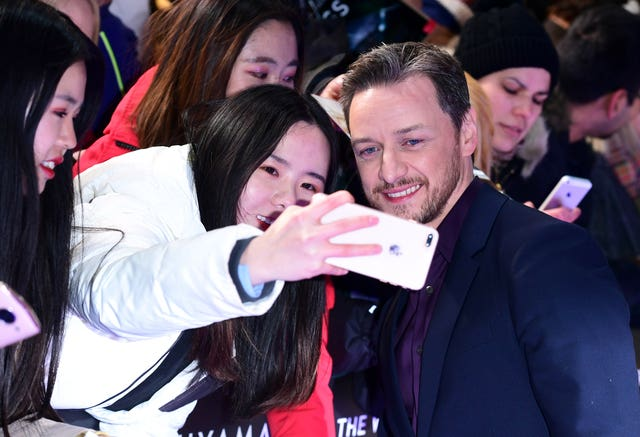 James McAvoy at the Glass European Premiere – London