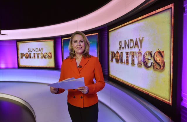 Sarah Smith presenting Sunday Politics (Jeff Overs/BBC)