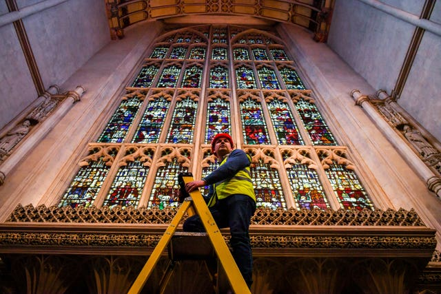 Bath Abbey restoration work inspected
