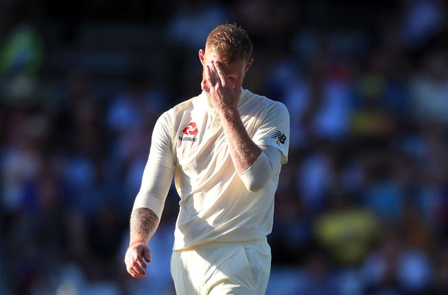 Ben Stokes bowled unchanged at the Football Stand end for 24.2 overs