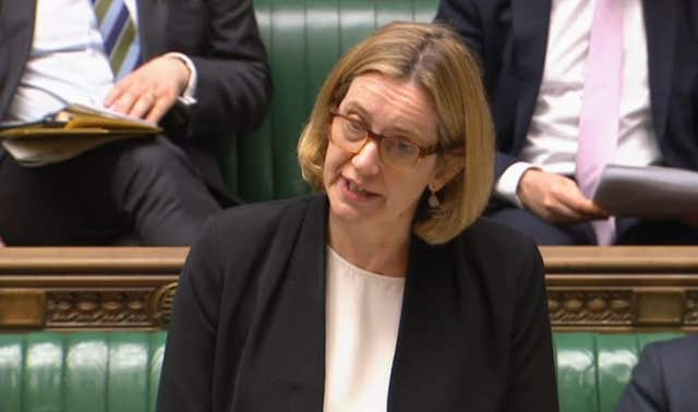 Home Secretary Amber Rudd has come under pressure over the Windrush scandal (PA)