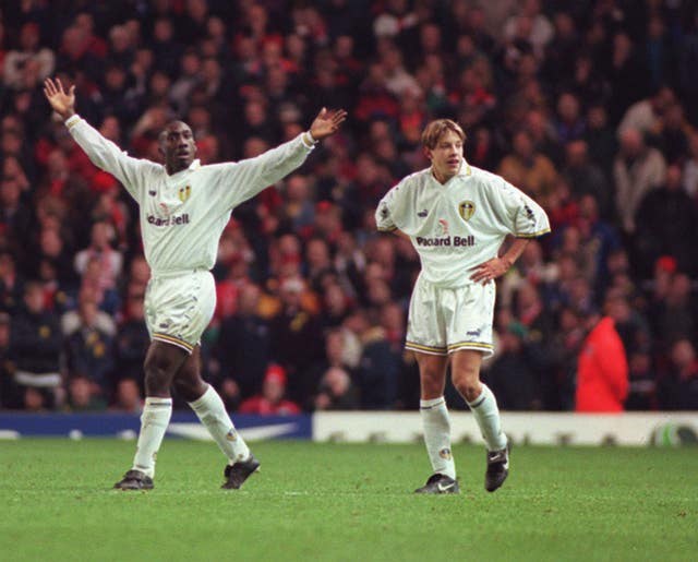 Alan Smith (right) made his debut as an unknown at Anfield in 1998 and scored with his first touch