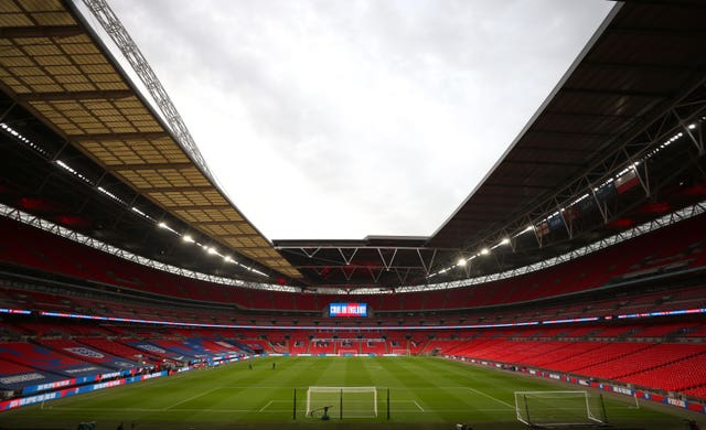 Wembley will host 4,000 spectators on Sunday