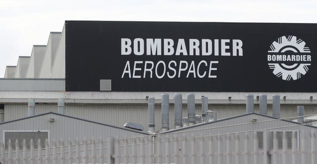 The Bombardier Aerospace plant in Belfast. (Niall Carson/PA)