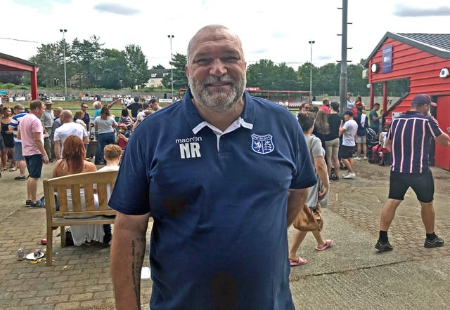 Neil 'Razor' Ruddock at the match