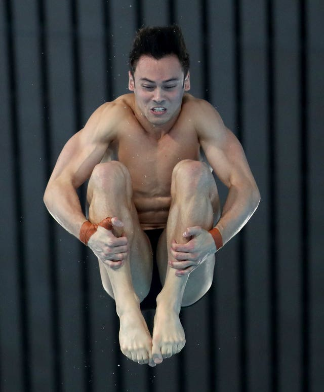 Tom Daley in action at the Diving World Series in London