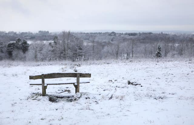 There were snowy scenes in parts of Kent, including Tunbridge Wells (Philip Toscano/PA)