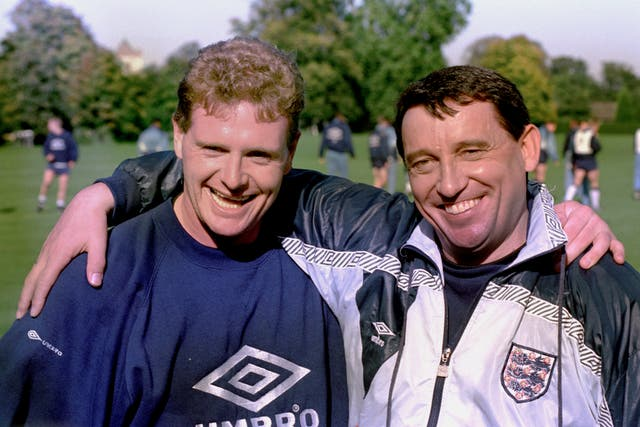 Former England manager Graham Taylor (right) and midfielder Paul Gascoigne have characters based after them in the film.