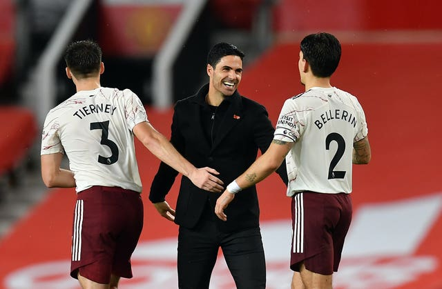 Mikel Arteta wants Arsenal to maintain the level they showed against Manchester United
