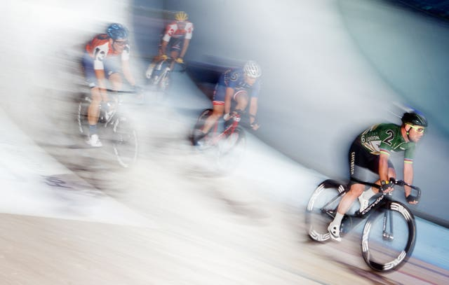 Great Britain's Mark Cavendish competes at the Six Day Event at Lee Valley Velopark in London. The British rider won his 40-lap derny heat on day one of the competition
