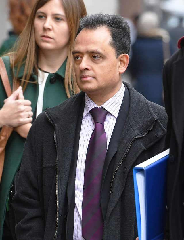 Manish Shah arriving at the Old Bailey in London