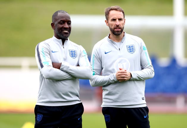Chris Powell (left) and Gareth Southgate