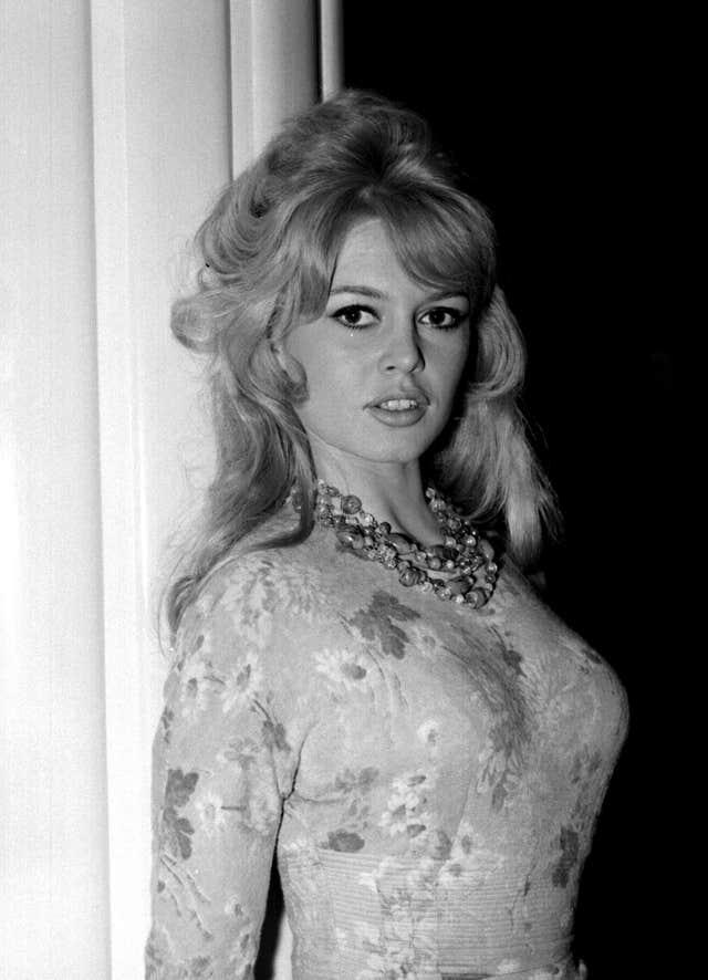 "Brigitte Bardot at a London Hotel during a photocall for her latest movie ""Babette Goes to War"""