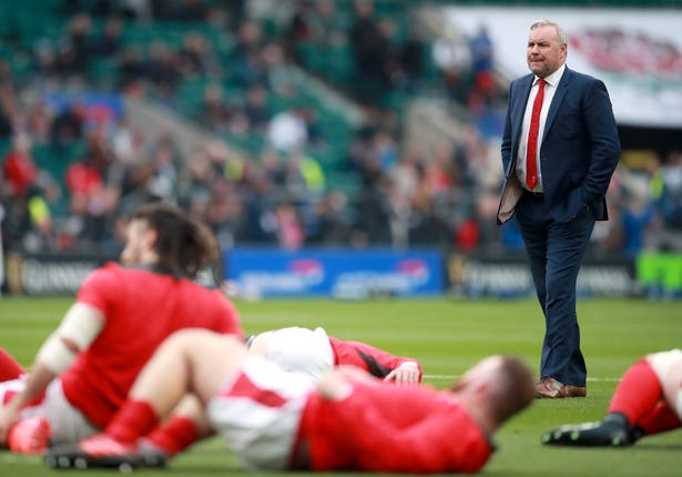 Wayne Pivac, right, lost three of his first four games in charge of Wales