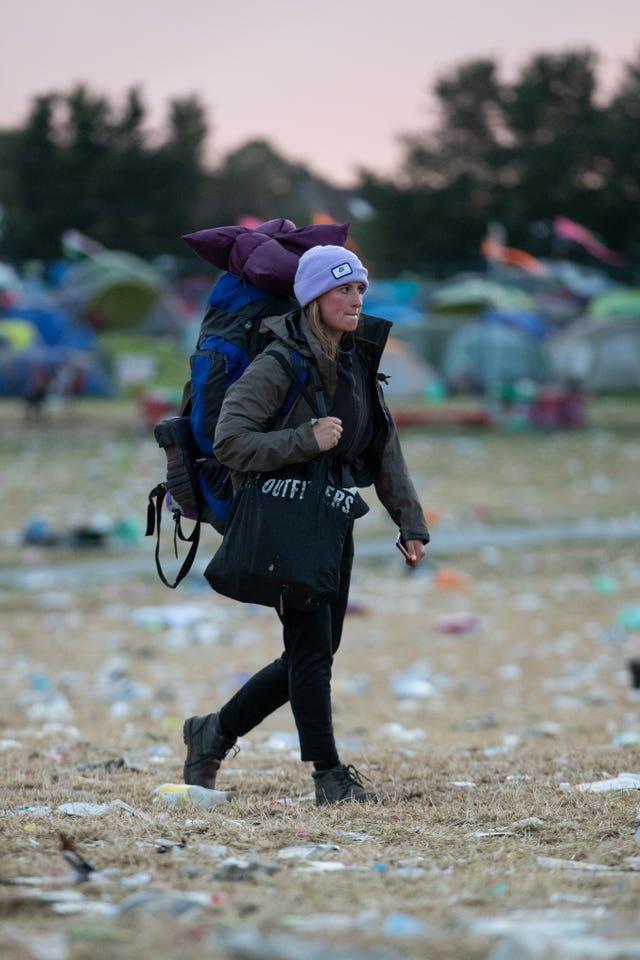 Glastonbury Festival 2019 departures