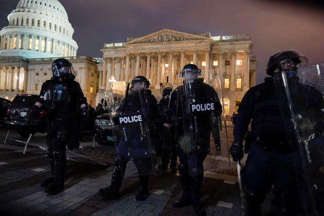 Authorities remove violent protesters from the US Capitol