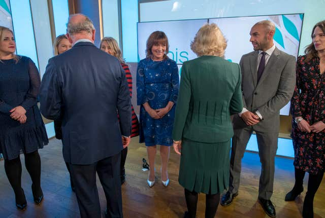 Royal visit to London Television Centre