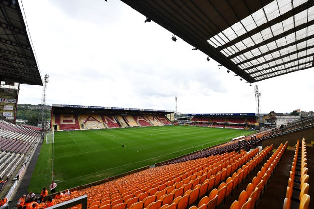 Bradford believe their stadium could be empty for the rest of 2020